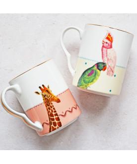 Kubki Giraffe and Parrots,...