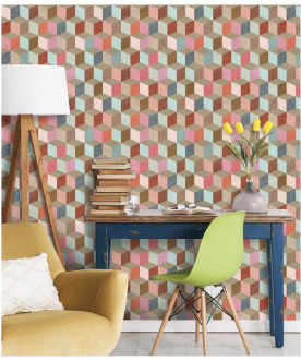 Tapeta Coloured Geometry,...
