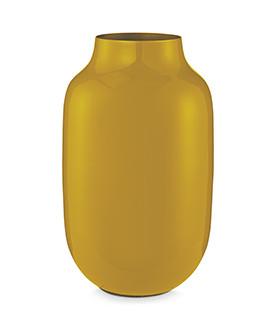 Wazon Metal Oval Yellow 30...