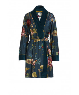 Nisha Kimono Poppy Stitch Blue