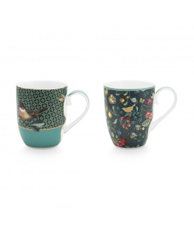 Set/2 Mugs Small Winter...