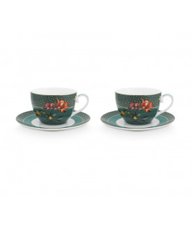 Set/2 Cups & Saucers Winter...