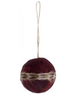 Dekoracja Feather burgundy
