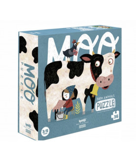 Puzzle dla dzieci Krówka...