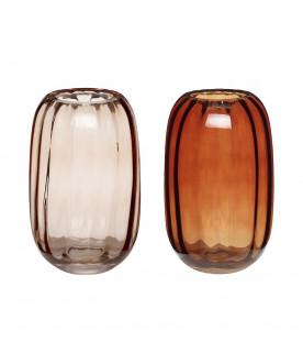 Szklany wazon Amber set 2