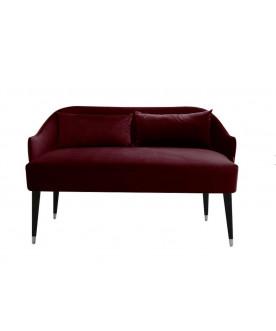 Sofa Emi Velvet burgund