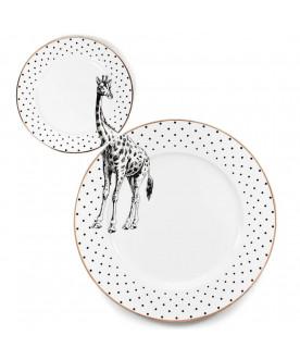 Talerze Monochrome Giraffe...