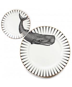 Talerze Monochrome 'Whale...