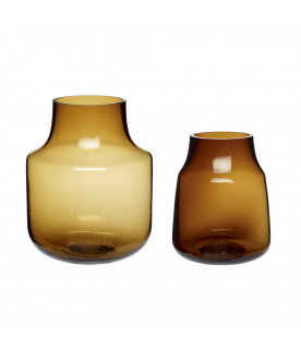 Szklany wazon Bursztyn